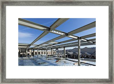 Structural Steel Construction Of An Framed Print by Don Mason