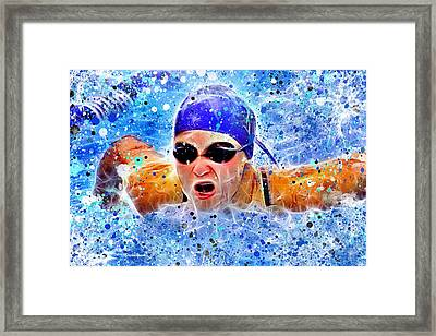 Swimmer Framed Print by Stephen Younts