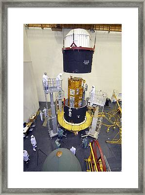 Terrasar-x Satellite Launch Preparations Framed Print by Ria Novosti