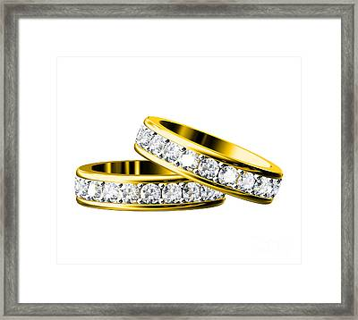 The Beauty Wedding Ring Framed Print by Rattanapon Muanpimthong