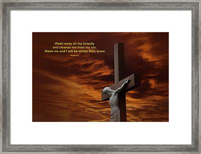 The Cross Framed Print by David Arment