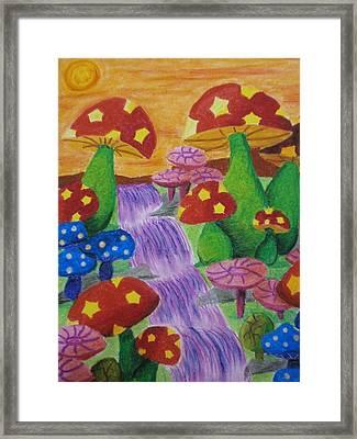 The Enchanted Mushroom Forest Framed Print by Adam Wai Hou