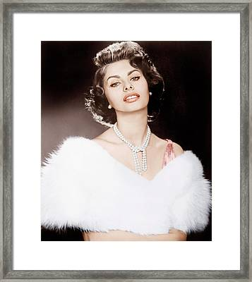 The Pride And The Passion, Sophia Framed Print by Everett