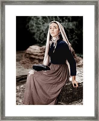 The Song Of Bernadette, Jennifer Jones Framed Print