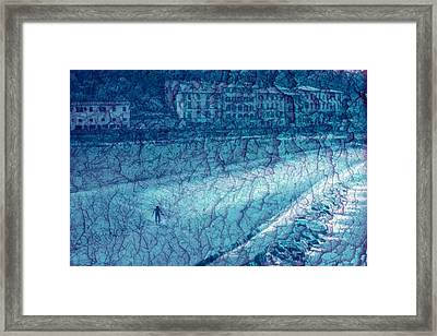 The Space Between Framed Print by Keenpress