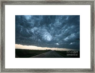Thunderstorm And Supercell Framed Print by Science Source