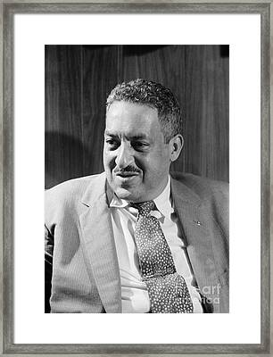 Thurgood Marshall Framed Print by Granger