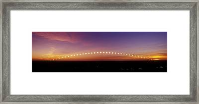 Time-lapse Image Of A Suntrail Framed Print