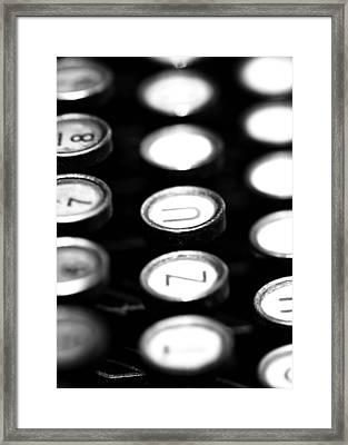 Typewriter Keys Framed Print