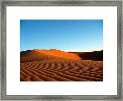 Ubari Sand Sea, Libya Framed Print