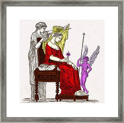 Venus, Roman Goddess Of Love Framed Print by Photo Researchers
