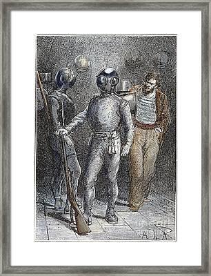 Verne: 20,000 Leagues, 1870 Framed Print by Granger