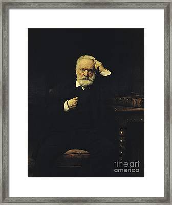 Victor Hugo, French Author Framed Print by Photo Researchers