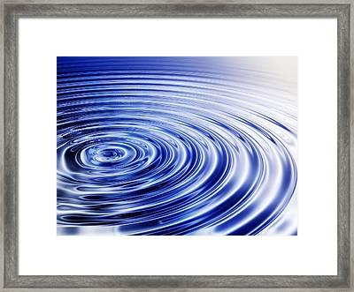 Water Ripples Framed Print by Pasieka