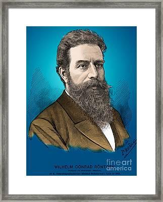 Wilhelm Roentgen, German Physicist Framed Print by Science Source