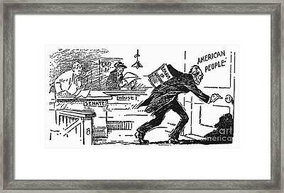 Wilson: League Of Nations Framed Print by Granger
