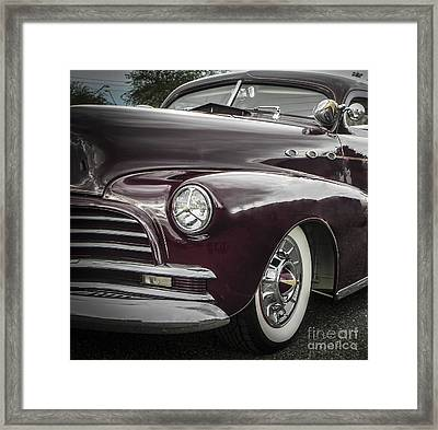3 Window Barris Chevy Framed Print by Chuck Re