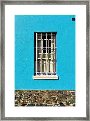Windows Of Bo-kaap Framed Print