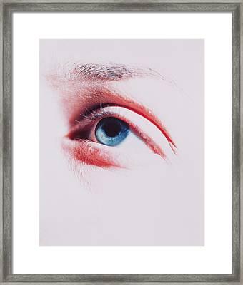 Woman's Eye Framed Print by Cristina Pedrazzini