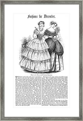 Womens Fashion, 1851 Framed Print