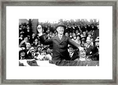 Woodrow Wilson (1856-1924) Framed Print by Granger
