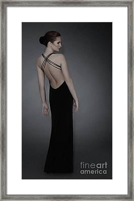 Young Woman In Evening Dress Framed Print by Iryna Shpulak