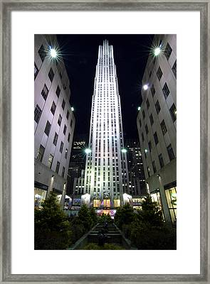 Framed Print featuring the photograph 30 Rock by Michael Dorn