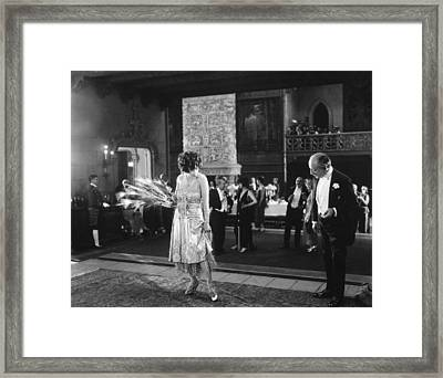 Silent Still: Man & Woman Framed Print