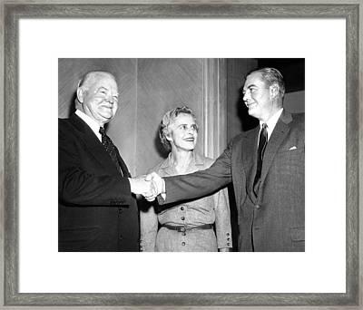 Former President Herbert Hoover Framed Print by Everett