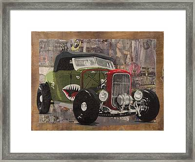 32 Ford Roadster Warhawk Framed Print by Josh Bernstein