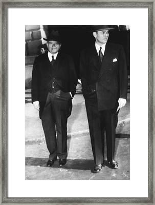 Former President Herbert Hoover Framed Print