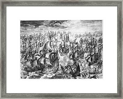 Spanish Armada, 1588 Framed Print