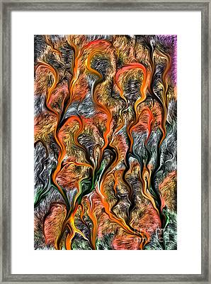 Framed Print featuring the digital art 32122 by Leo Symon