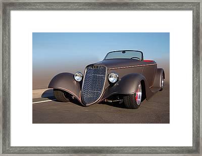 33 Custom Framed Print by Bill Dutting