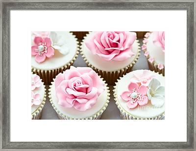 Wedding Cupcakes Framed Print