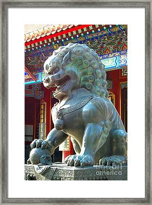 Asian Splendors Series Framed Print by Terry Troupe