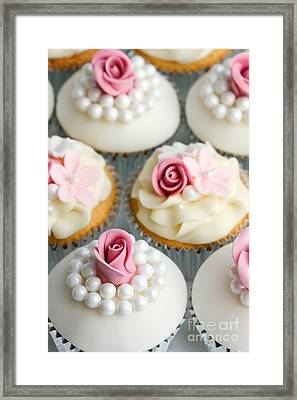 Wedding Cupcakes Framed Print by Ruth Black