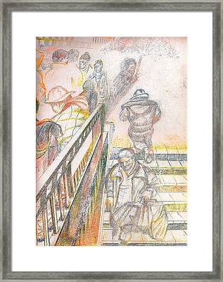 34th Street Subway Entrance  Nyc Framed Print