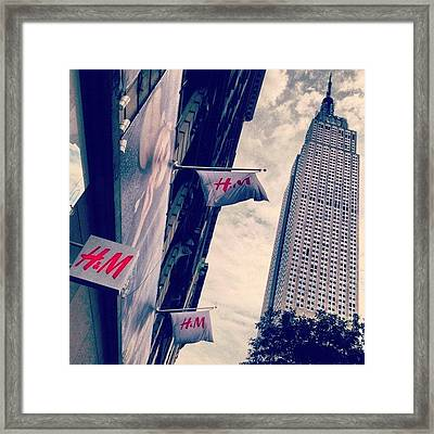 34th Street Framed Print