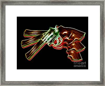 357 Magnum - Electric Framed Print by Wingsdomain Art and Photography