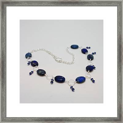 3589 Blue Sea Sediment Jasper Necklace Framed Print