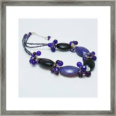 3598 Purple Cracked Agate Necklace Framed Print by Teresa Mucha