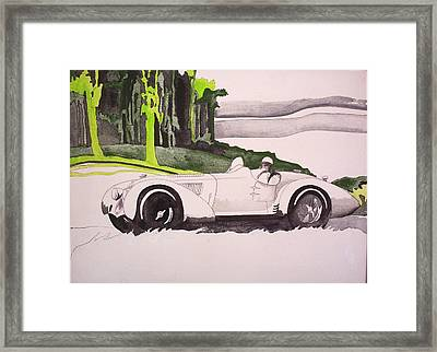 Framed Print featuring the painting 36 Alfa  by Richard Willows