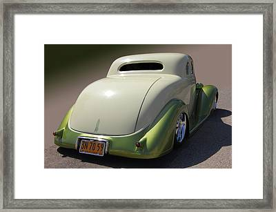 36 Dodge Coupe Framed Print by Bill Dutting