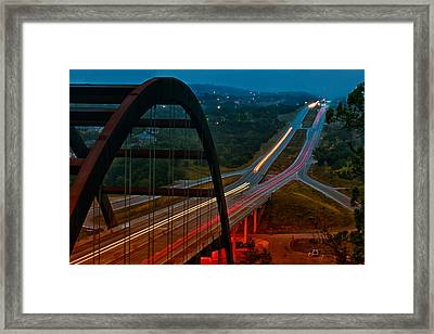 360 Bridge Morning Traffic Framed Print by Lisa  Spencer