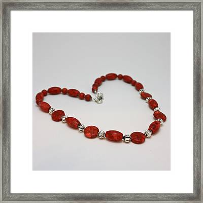 3612 Red Coral Necklace Framed Print by Teresa Mucha
