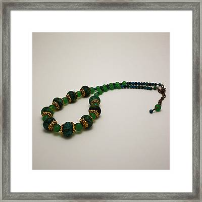 3616 Austrailian Jasper And Adventurine Necklace Framed Print