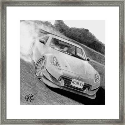 370z Fairlady Drift Framed Print