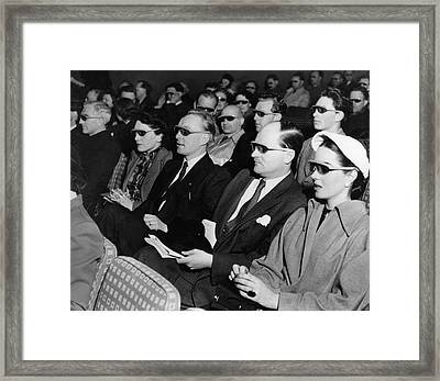 3d Festival Framed Print by Hulton Collection