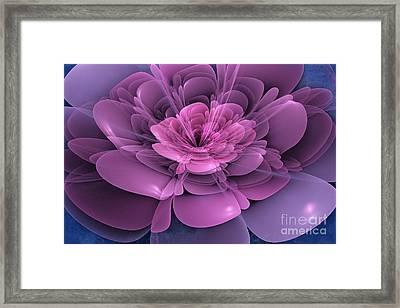 3d Flower Framed Print by John Edwards